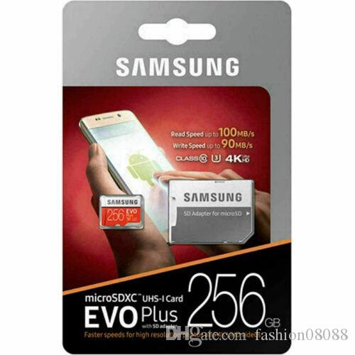Scheda di memoria SAMSUNG EVO PLUS 256 GB MicroSD Micro SDXC C10 Flash con adattatore