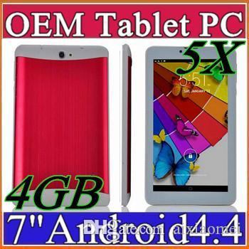 5X MES 2017 cheap 7 inch 3G Phablet Android 4.4 MTK6572 Dual Core 4GB Dual SIM GPS Phone Call WIFI Tablet PC With Bluetooth EBOOK B-7PB