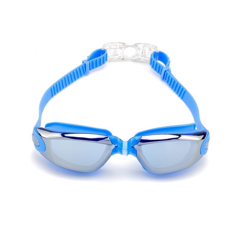 Мода плавательные очки HD плавательный очки с беруши зажим для носа гальванических Большой кадр Водонепроницаемый плавательный Googles Защитные очки