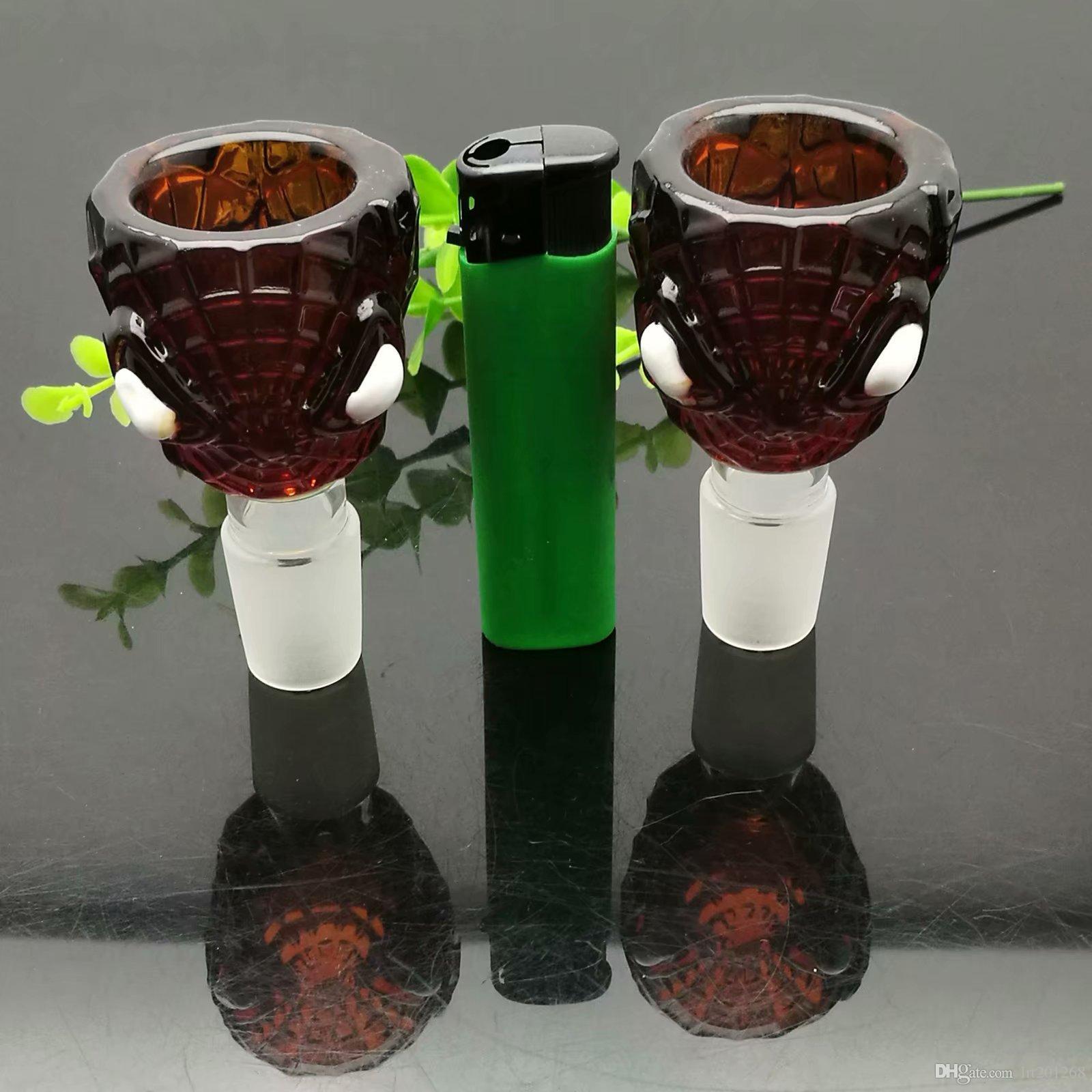 cartone animato a colori adattatore della sigaretta di vetro del modello all'ingrosso Pipes bicchiere d'acqua Accessori Tabacco vetro Ash Catcher