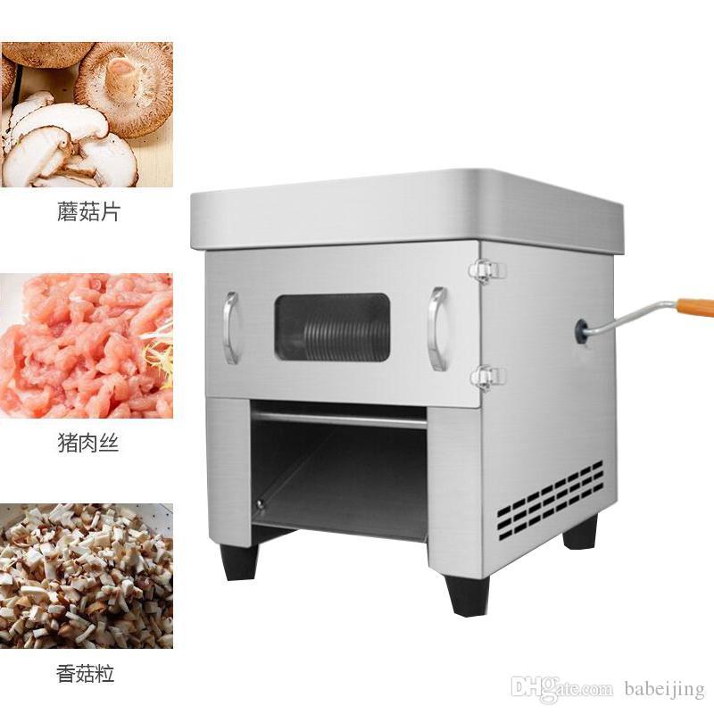 850 Watt Kleine elektrische Manuelle Dual-use Fleisch Cutter Maschine Pull-out Klinge Shred Slicer Würfeln Maschine Kommerziellen Fleisch Slicer Maschine