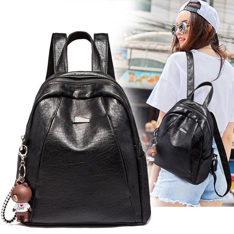 2020 Korean-style Cool Fashion Caramel Backpack Multi-functional Trend Backpack