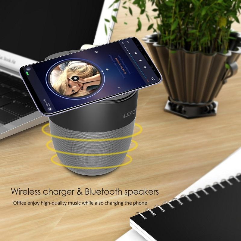 Беспроводное зарядное устройство для Bluetooth-динамик для мобильного телефона аудиоплеер 2500mAh Поддержка USB держателя портативный маленькие колонки телефона