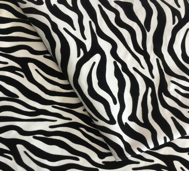 8style Zebra pattern mirror leather fur flocking pillow pu lether fabric wedding coat sofa coat diy textiles fabric,one meter D184