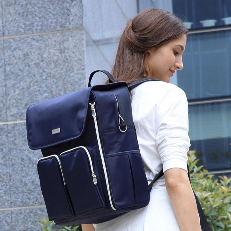 Многофункциональный мумия сумка рюкзак младенца пеленки сумки материнства сумка ребенка путешествия рюкзак сумка наклонные плечи
