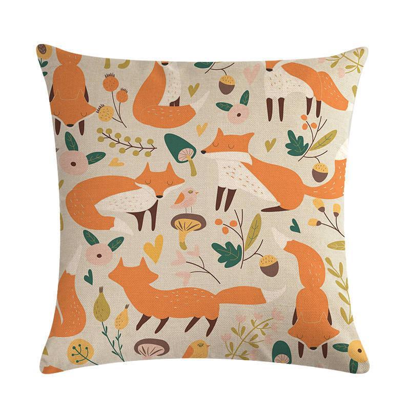 Nordic Red Almofada bonito Decoração animal linho Capa Pillowcase Home Decor Pillow almofadas para Sofá 45 45 centímetros *