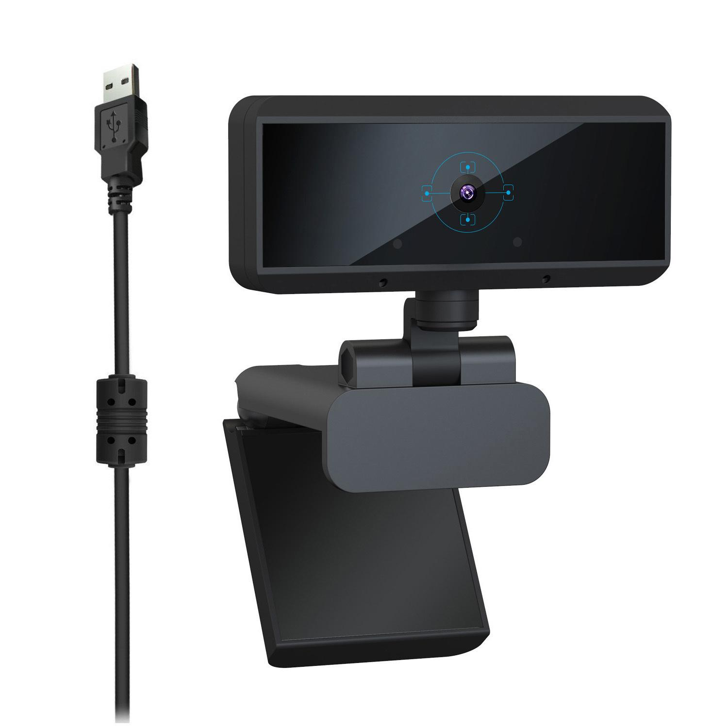 Full HD 1080P 30fps 5M Pixels USB Webcam Built-in Microphone Auto Focus Computer Peripheral Web Camera for Youtube PC Laptop Cam T200524