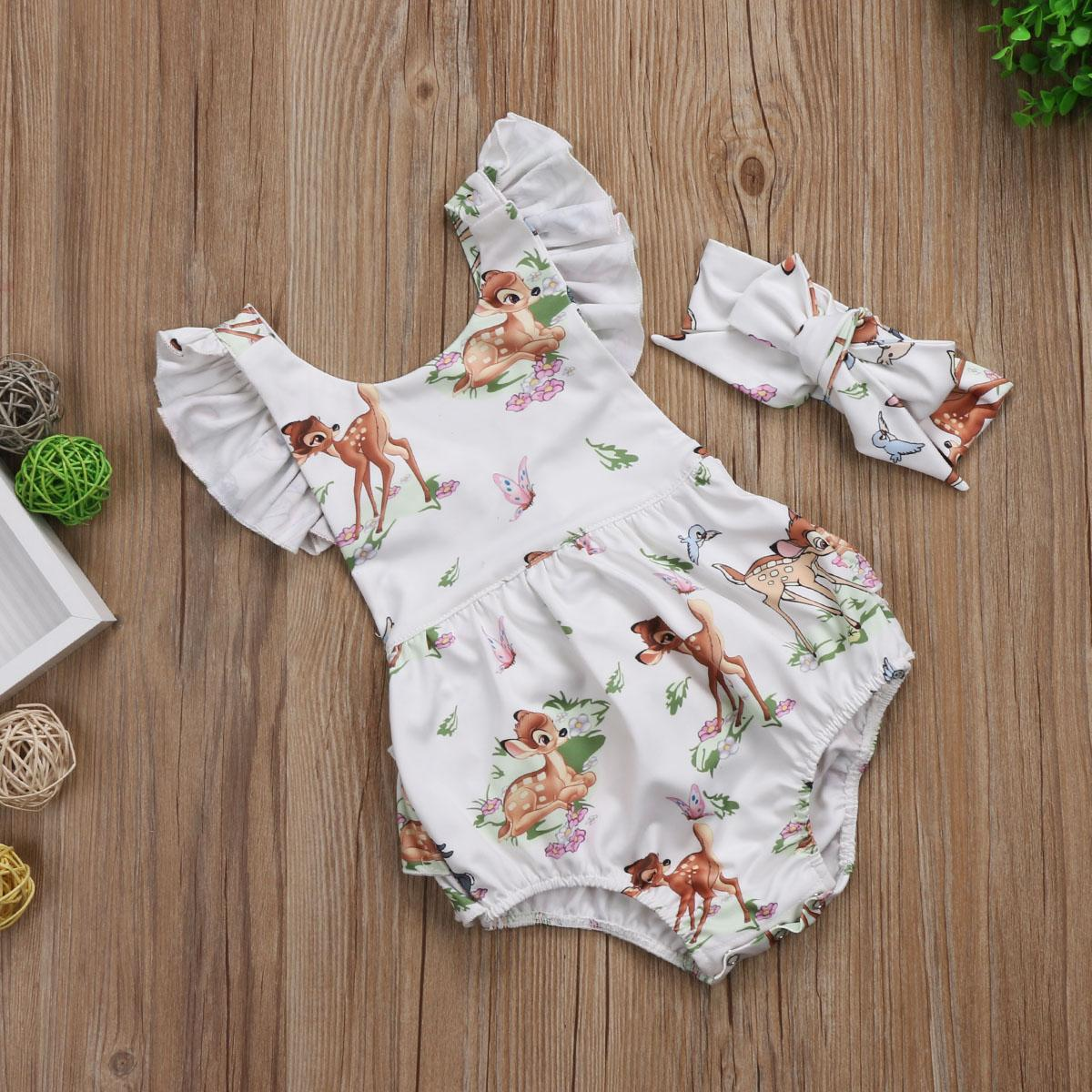 Toddler Baby Boys Bodysuit Short-Sleeve Onesie Suns Out Guns Out Print Jumpsuit Spring Pajamas