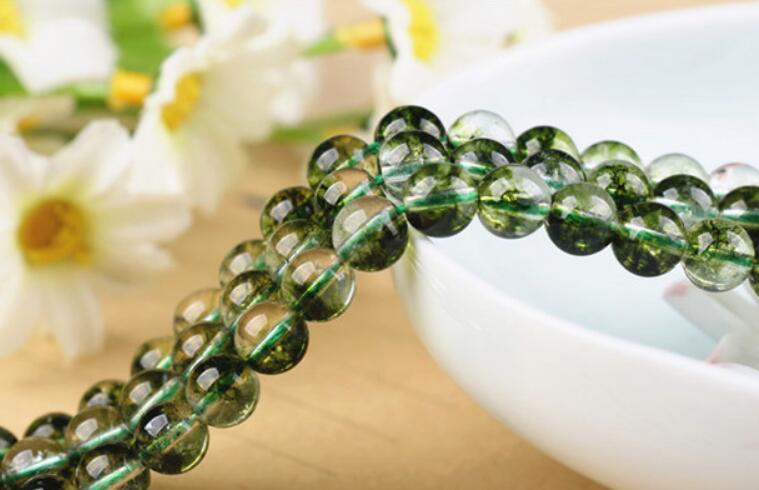 Atacado 60 Pçs / lote Natural Verde Fada Pingentes De Cristal para Fazer Jóias Pedras Preciosas Soltas 6mm Frete Grátis