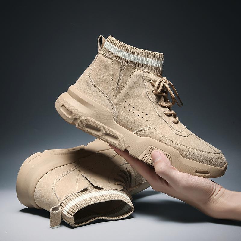 Hiver hommes cheville bottes martin mode confortable chaussures de neige casual hommes britanniques style bottillons courts 3 couleurs