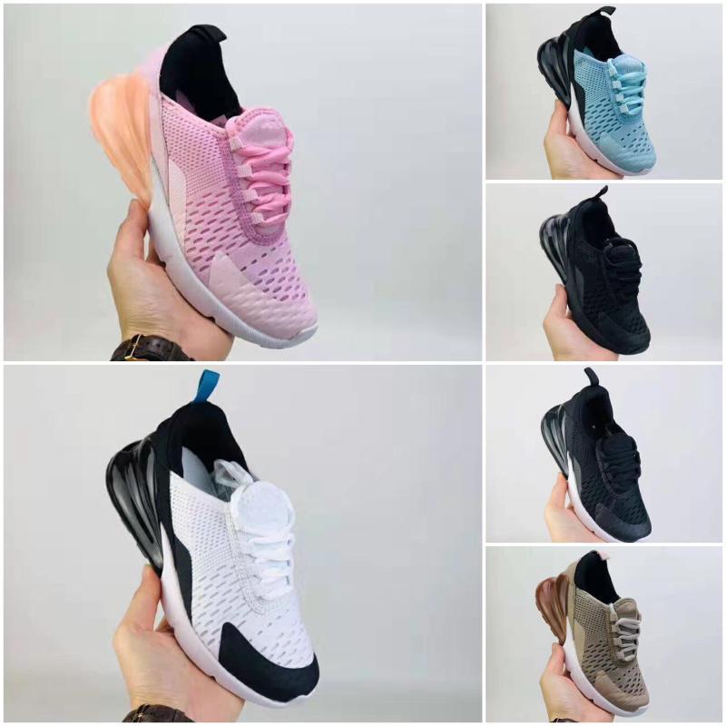 Nike air max 270 2020 Новый дышащая сетка Дети Запуск кроссовки 27 и Damping амортизирующие Дети спортивной обуви Рождественский подарок 22-35