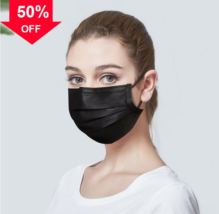 uWSUe Free Fast ship DHL Disposable Thick 3-Layer Masks Face mask with shield Earloops for Salon, Home Use Comfortab