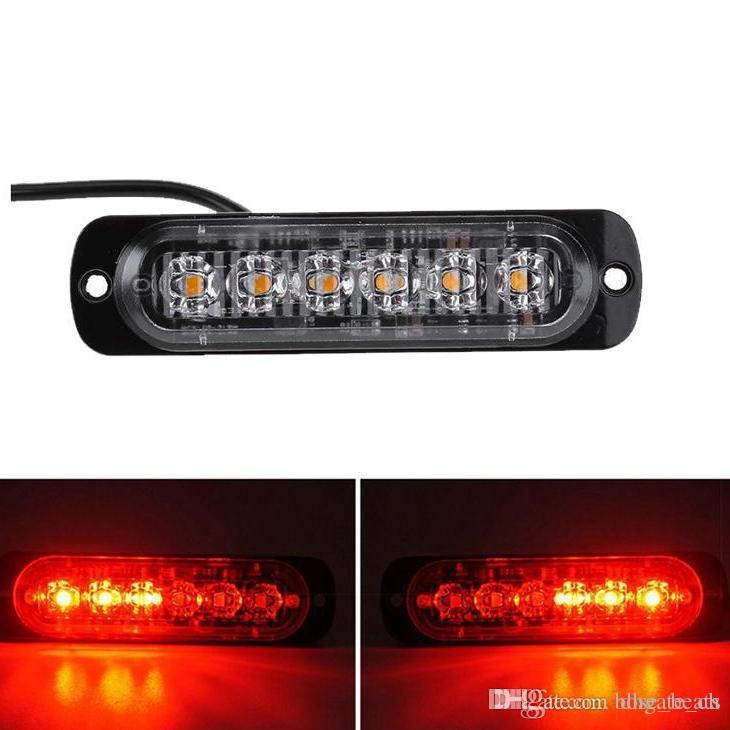 2 x LED 18w Car Flashing strobe Warning Lights colour changing Amber /& White