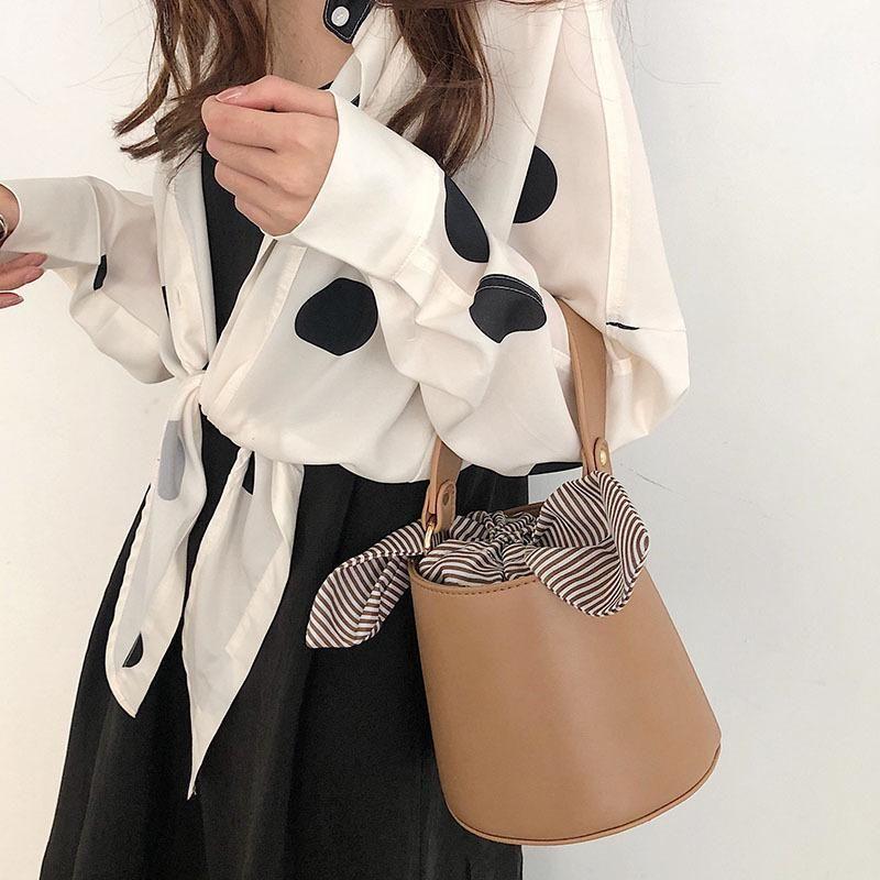 Сумка женская новая простая портативная женская маленькая сумка плечо посыльного ретро ведро