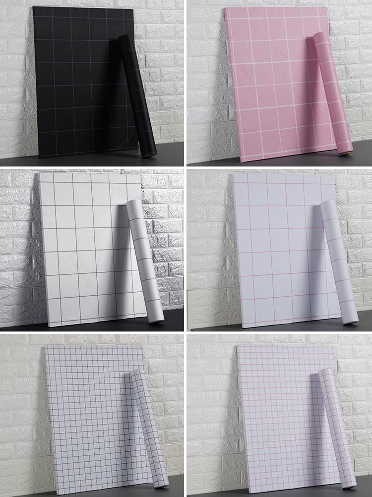 Waterproof TV wall paper self-adhesive bedroom warm wallpaper wind decoration furniture dormitory transformation book desktop renovation
