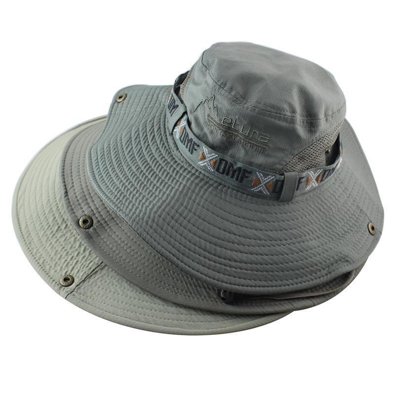 Hombres Mujeres Boonie Sombrero Protección UV UPF 50+ al aire libre del sombrero del cubo de verano ancha ala militar del ejército Senderismo Pesca táctico Sun del casquillo del sombrero
