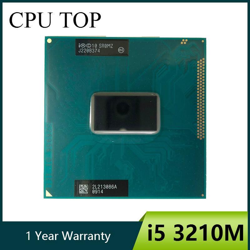 مكونات الكمبيوتر وحدات المعالجة المركزية إنتل كور i5 3210M 2.5Ghz ثنائي النواة الكمبيوتر المحمول المعالج SR0MZ مقبس G2 i5-3210M CPU