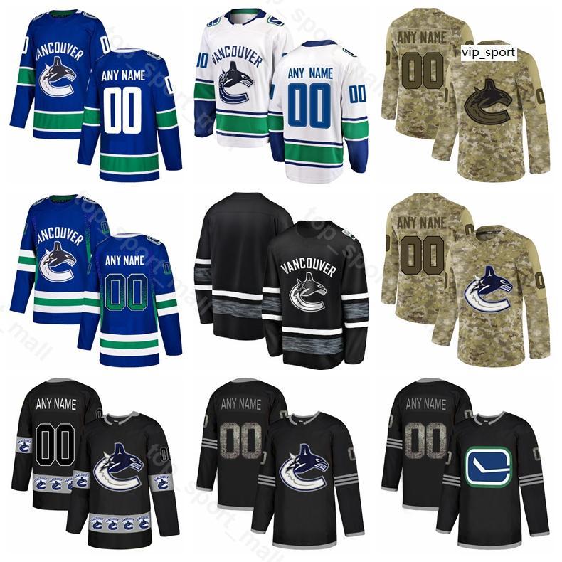 Hockey Vancouver Canucks Jake Virtanen Jersey Alexander Edler Troy Stecher Bo Horvat Elias Pettersson Gradient Camo Custom