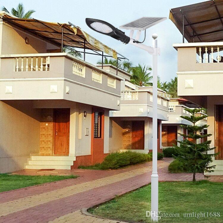 Umlight1688 120W 60W solarbetriebene Straßenflutlichter im Freien wasserdichtes IP67 mit Fernsteuerungssicherheitsbeleuchtung für Yard