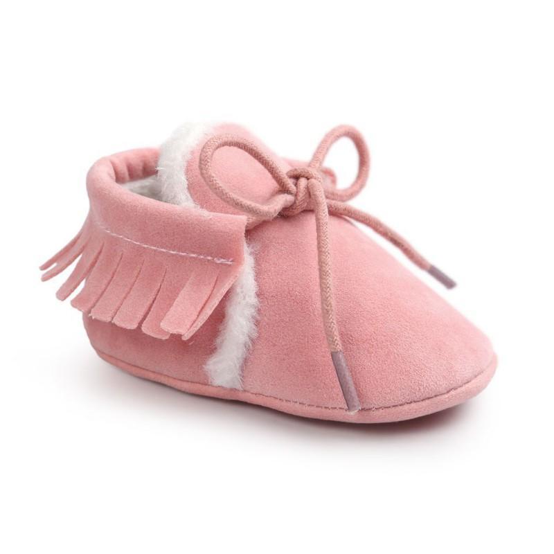 0-18M İçin Ayakkabı PU Deri Kış Bebek Makosenler Yenidoğan Boys Kız Casual Spor Ayakkabılar Bebek Bebek Ayakkabı