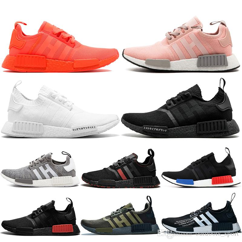 Discount Sale Nmd R1 Women Mens Running Shoes Red Pink Triple