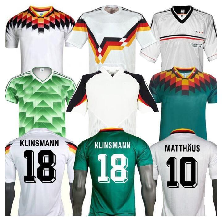 Alemania Jersey de fútbol retro Alemania 1990 1994 1988 Hummels KROOS DRAXLER REUS MULLER GOTZE 20 21 camiseta de fútbol uniformes hombres hijos Tailandia
