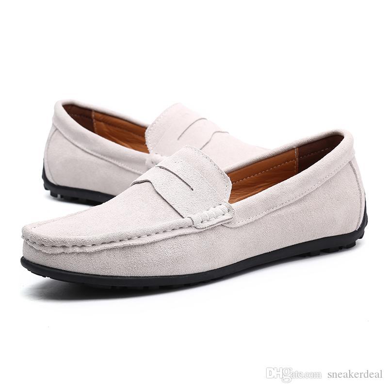 2020 Designer Original-Kleid-Schuh-neue Art und Weise Freizeit Fahren Schuh Klassische Peas Schuhe Herren Schuhe mit Kasten