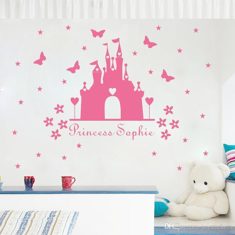 Personnalisé Ballerines Autocollant Mural Décalcomanie Enfants Nurserie Chambre