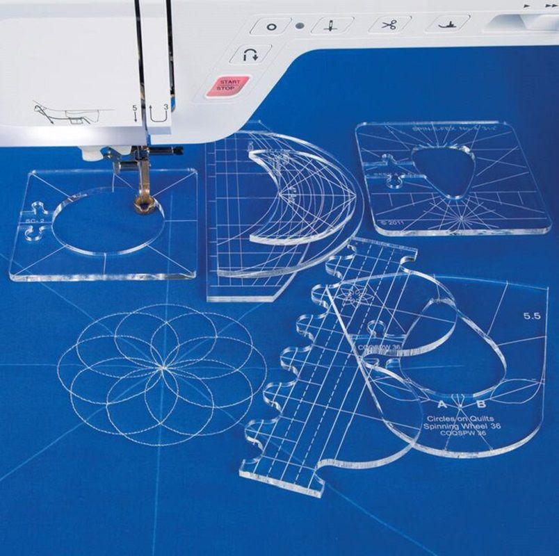 Nouveau modèle de gabarit de la règle défini pour la machine à coudre domestique 1 Set = 6pcs # rl-06
