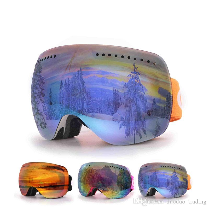 Ski goggles double Lens UV400 anti-fog Skiing eyewear men women mask snow glasses adult skiing snowboard goggles personality Dazzling color