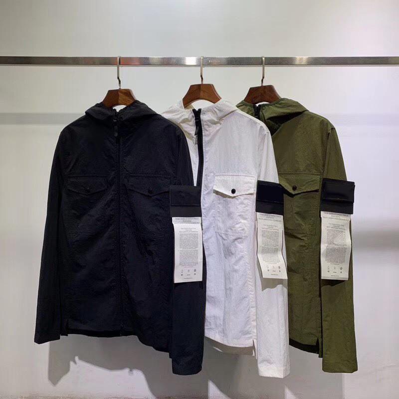 19SS 남성 스타일리스트 자켓 패션 후드 재킷 스웨터 재킷 남성 여성 코트 새로운 남성 윈드 겨울 코트 야외 스트리트