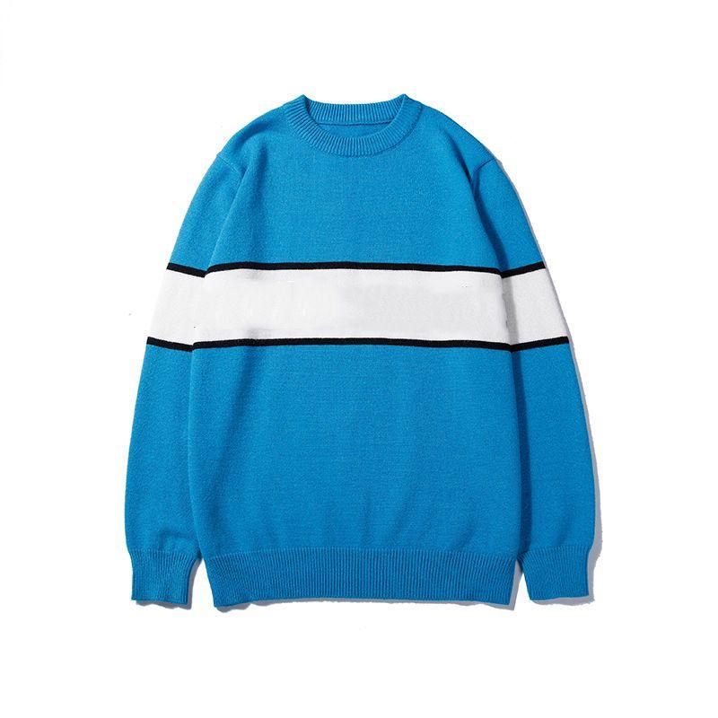 Mens Designer camisola com capuz listrada estilo da marca camisola quente de primavera para mulheres dos homens de luxo Tops Jumpers Terry Sweater