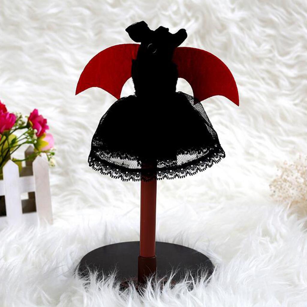 06/01 BJD Doll Cadılar Bayramı Kostüm Dantel Elbise Cape Kafa İçin AÜSS MSD İçin Dollfie Doll Cosplay Kıyafet Lolita Stil Komple Bakış