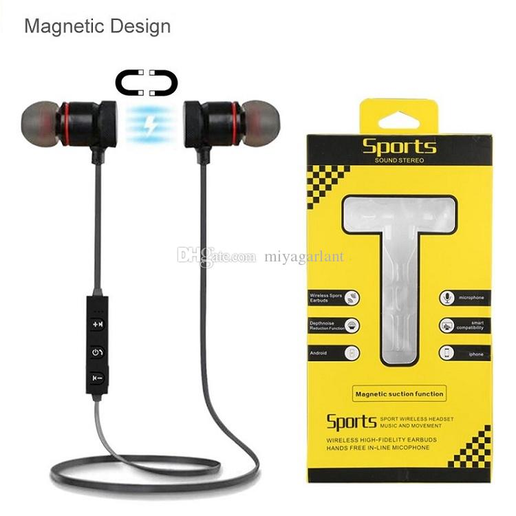 Running Sports M9 Magnet Metal Bluetooth Headphone Wireless Earbuds Headset V4 2 Stereo Waterproof Earphone With Mic For Smartphone Headset For Cell Phone Mobile Phone Headset From Miyagarlant 3 52 Dhgate Com
