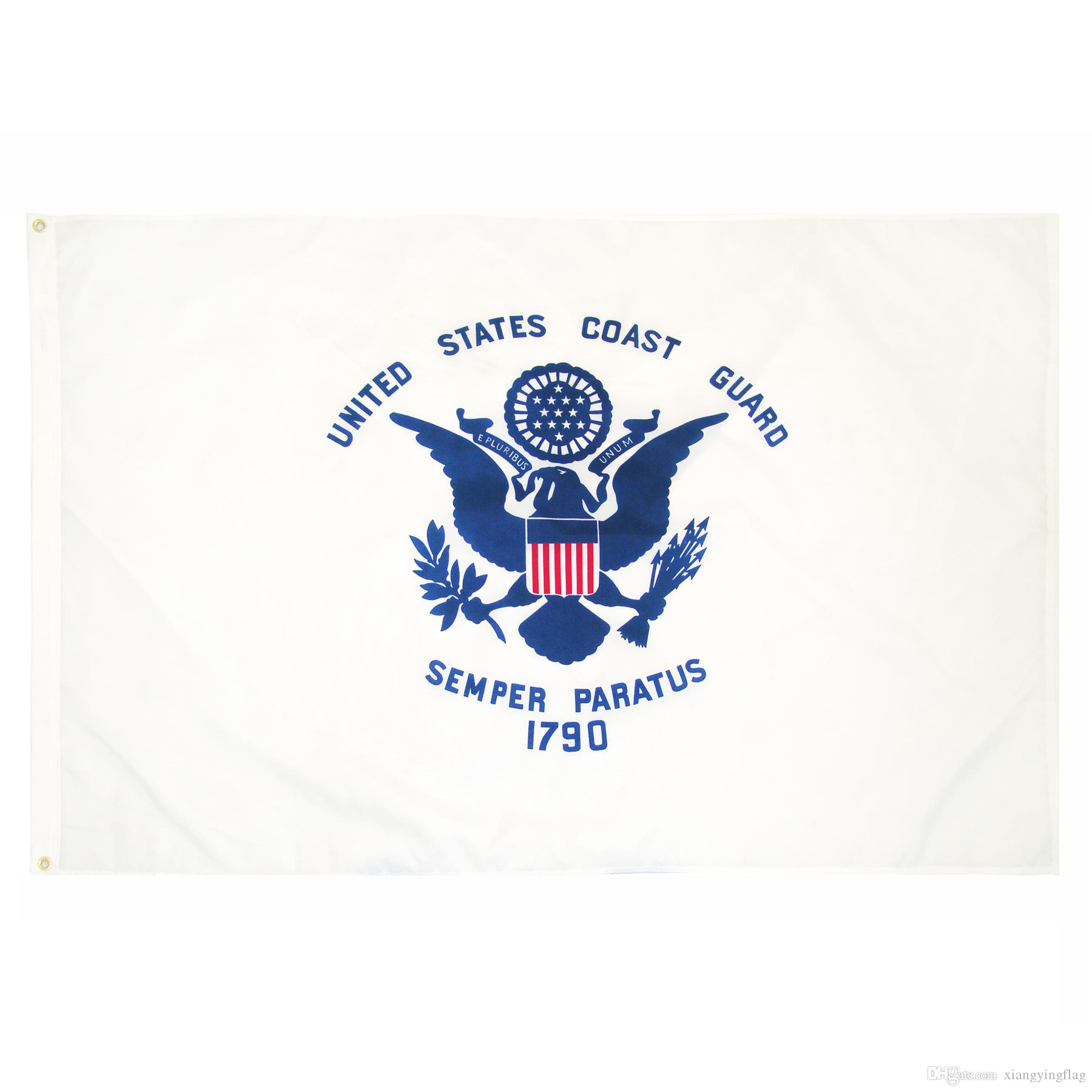 factory price handing 3 by 5 ft polyester united states of american Military USCG coast guard Flag