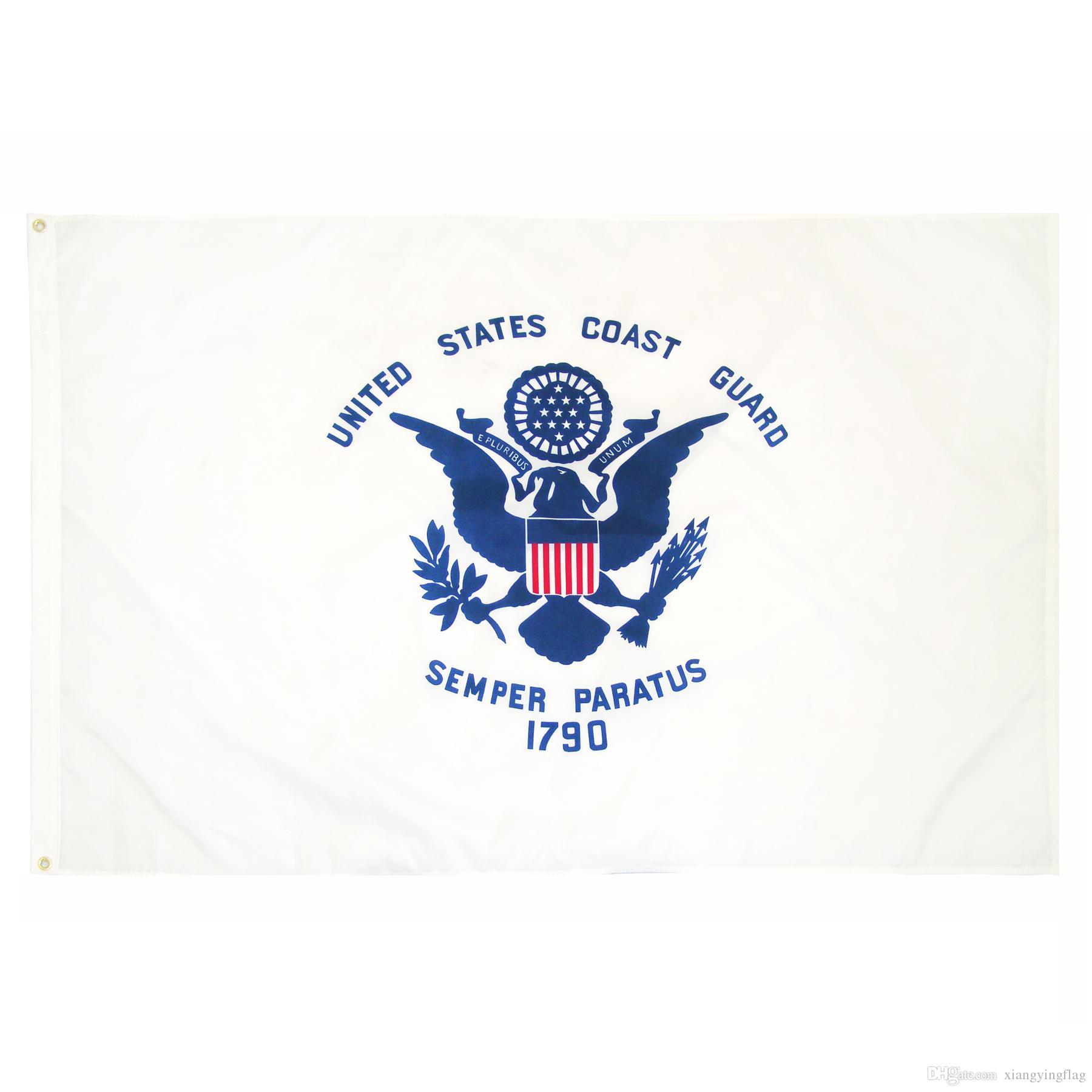 Prix usine remise 3 par 5 m polyester États-Unis d'Amérique Militaire USCG garde côtière Drapeau