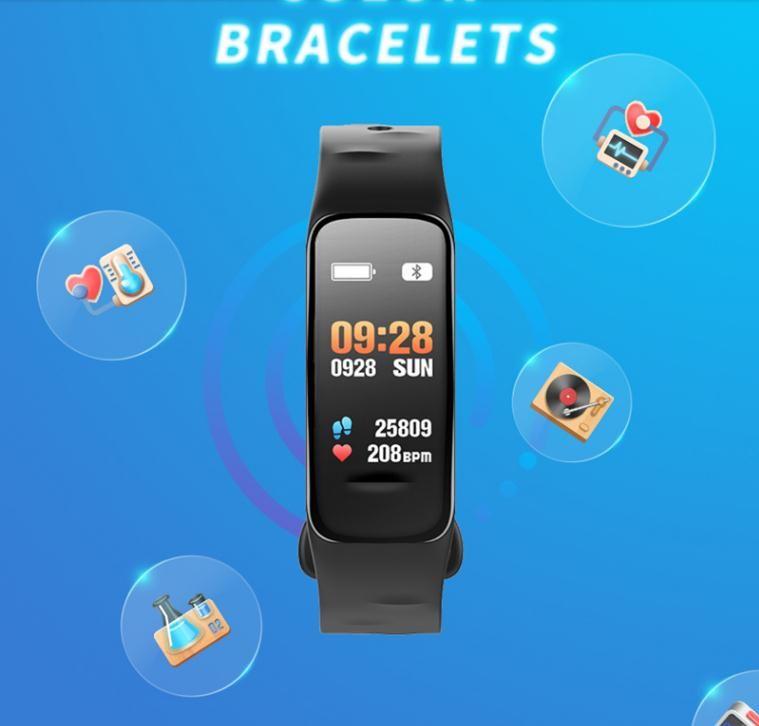 C1S Wearfit Smart Bracelet Watch Blood Pressure Measurement Heart Rate  Monitor Cardiaco Fitness Tracker Smart Wristband Best Smartband Fit  Wristband