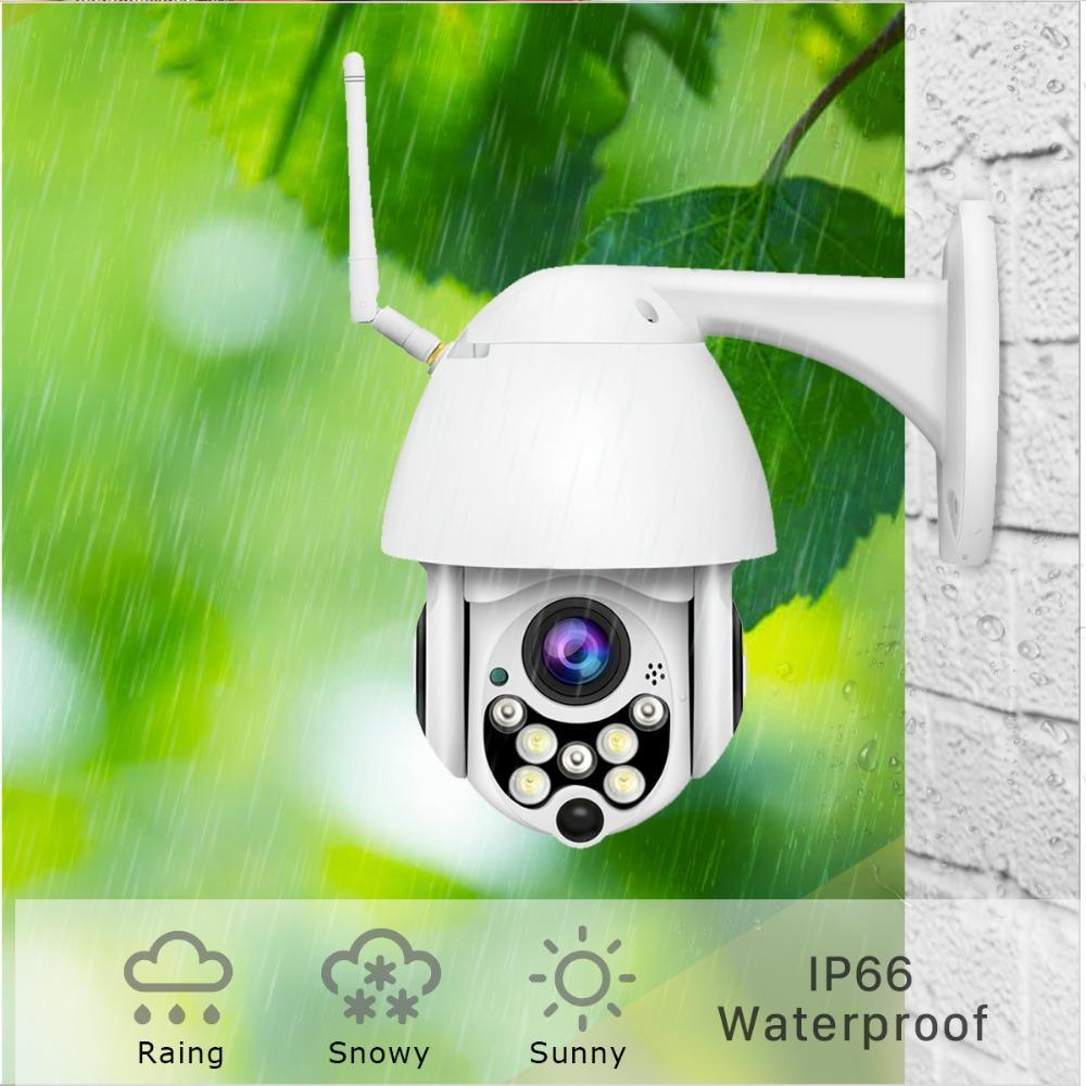 1080p Cloud Storage inalámbrico PTZ Cámara IP 4x Digital Zoom Speed Dome Outdoor WiFi Audio P2P CCTV Vigilancia