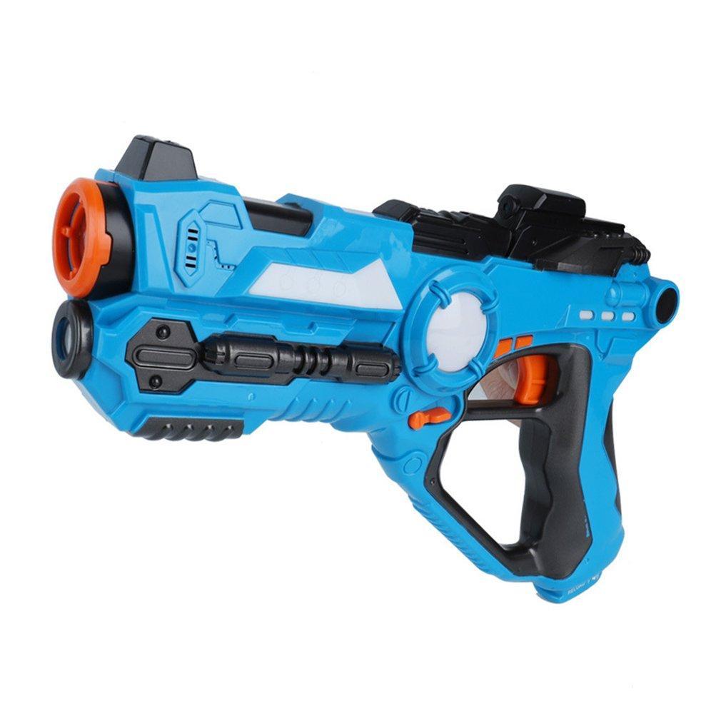 2pcs / set cs Spiel Spielzeugpistolen Grün und Blau elektrischer Kampf Spielzeugpistole Infrarot-Sensor Kunststoff-Laser-Tag-gun