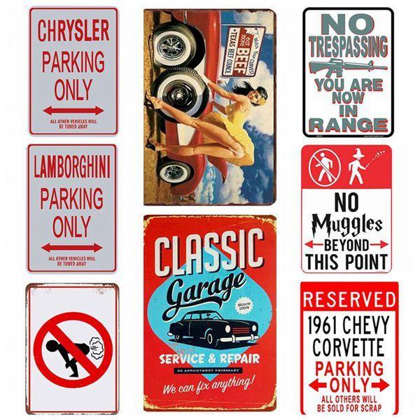 Signs Retro Cartoon Movie Comics Series Metal Signs Retro Poster Vintage Art Kraft Wall Painting Decorative Plate Bar Pub Kids Room Decor