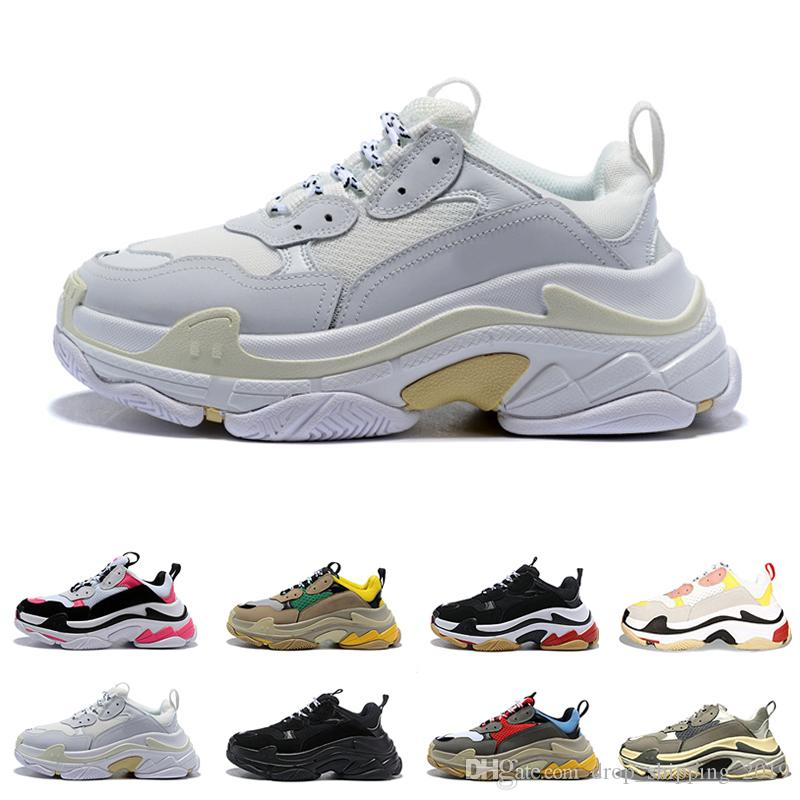 Nuevos zapatos para papá 17FW Tripe S para mujer Zapatos al aire libre para hombre Estilo de vida diario Skateboarding Shoe Hacer viejos deportes chaussures Zapatillas para caminar