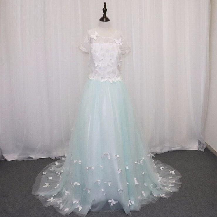 Lovely Lace Tulle Applique Flower Girl Dresses Ball Gown Kids Pincess Pageant Wedding Bridesmaid Children Dress GHYTZ142