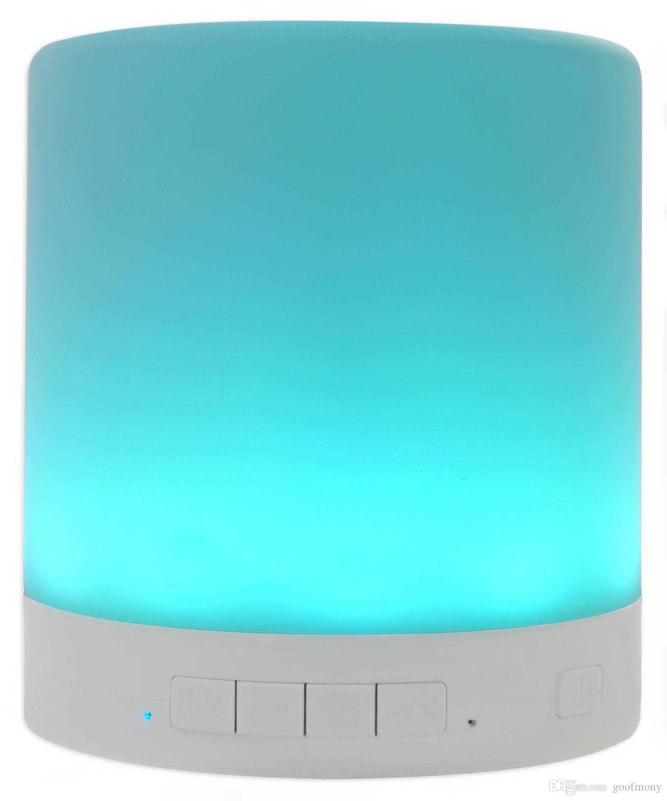 Tragbare drahtlose Berührungssteuerung, Nachtlicht Bluetooth-Lautsprecher mit 7 Farben führte Nachttischlampe, Freisprecheinrichtung