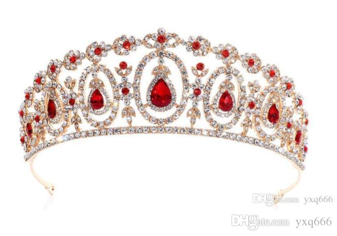 Direct sale of new European and American bridal tiaras, tiaras, hair ornaments, crystal headbands, wedding accessories