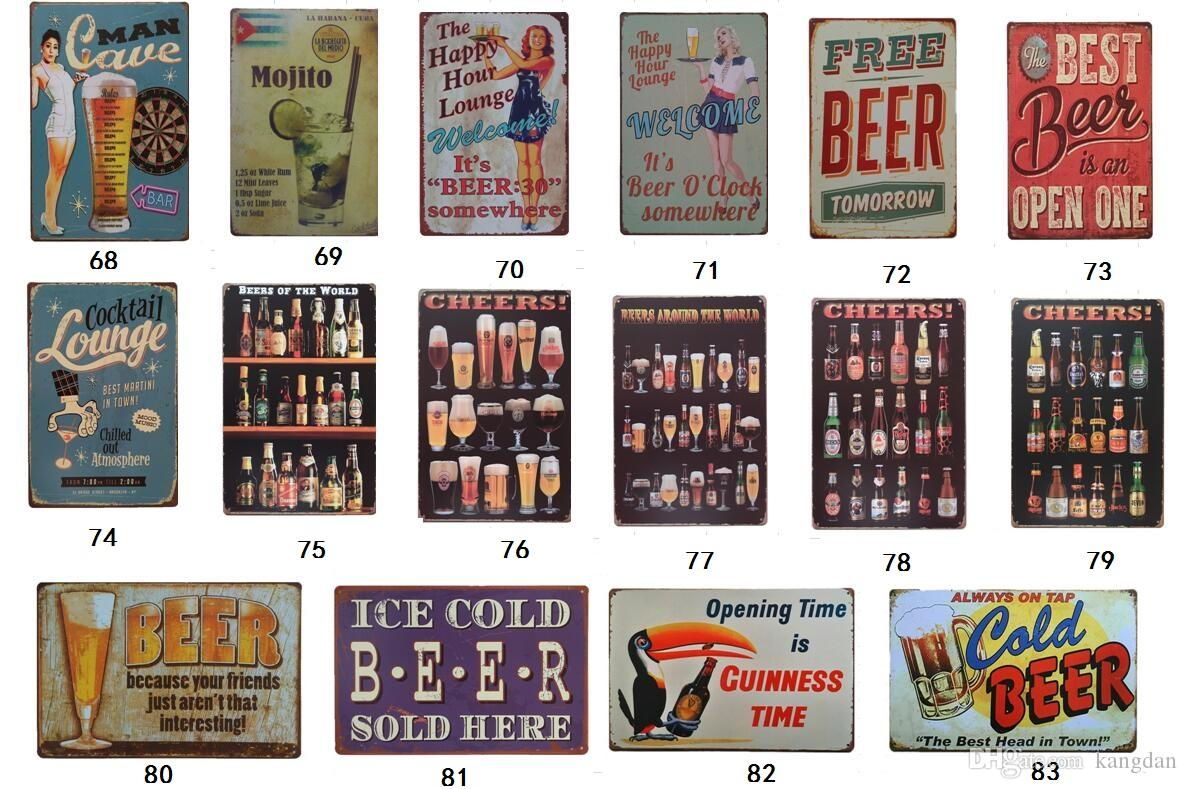 94 Projeto Black Beer covktail My Guinness Sinais Da Lata Do Vintage Bebida Retro Metal Pinturas Decoração Parede De Bar Café Pub Loja de Restaurante