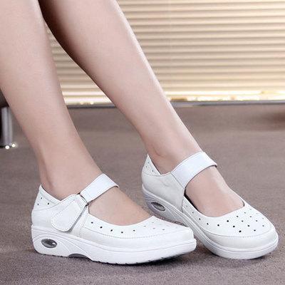 2019 новых ботинки акушерки мягкого дна белого желе дно удобной дышащий дезодорант не скользит обувь