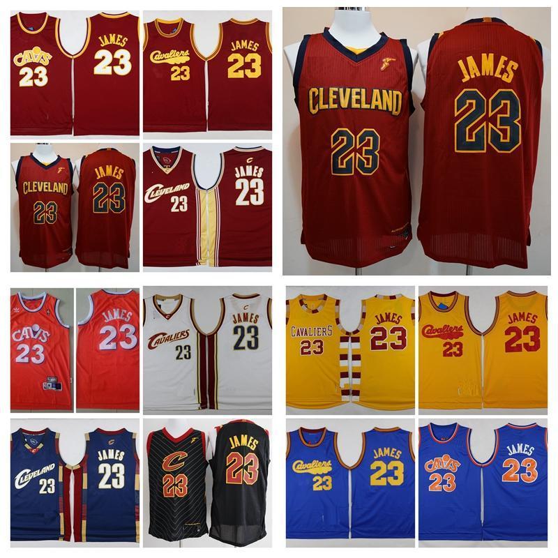 Sıcak VintageLebron JamesClevelandCavaliersDikişli Koleji LeBron 23 James İl Sürümnba basketbol Formalar