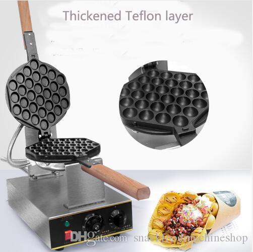 Ticari Elektrikli yumurta kabarcık waffle makinesi makinesi hong kong eggettes kabarcık puf kek demir makinesi kek fırın