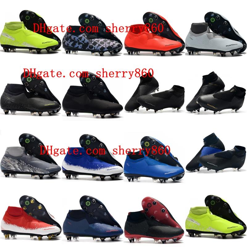2019 new arrival mens soccer shoes Phantom VSN Elite DF SG-Pro Anti Clog soccer cleats Phantom Vision football boots scarpe calcio hot
