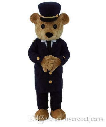 Traje feito sob encomenda do tamanho do traje da mascote do urso de peluche feito sob encomenda com um mini fã dentro da cabeça para o partido do carnaval da propaganda comercial